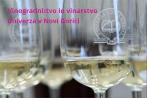 vinogradništvo in vinarstvo Univerza v Novi Gorici